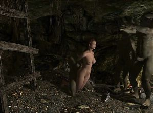 Elisif nude and helpless in Skyrim pt3