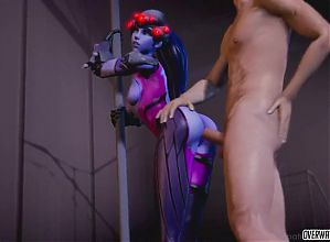 Naughty Overwatch heroes getting that pussy banged raw